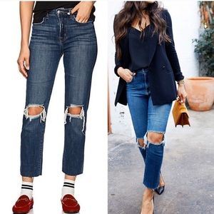 NWT L'agence Audrina High Rise Straight Jeans